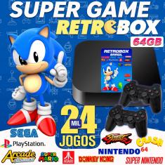 super game retro box 20 mil jogos 64GB com 02 controles de PS2- USB
