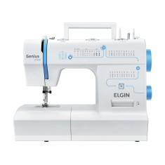 Máquina de Costura Doméstica Portátil Reta Genius Plus JX-4035 - Elgin