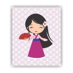 Imagem de Quadro Decorativo Tema Princesas 23x19cm QDLPR02