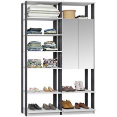 Imagem de Guarda-Roupa Closet com Espelho 9012 Bentec