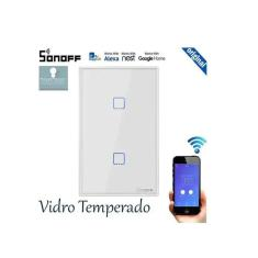 Imagem de Interruptor Wifi Sonoff TX0 2 canais touch automação Smart  TX-T0US2C