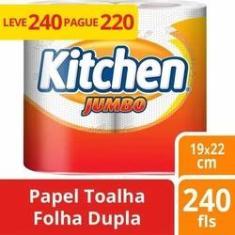 Imagem de Papel Toalha Kitchen Jumbo 8 Unidades Promoção Revenda