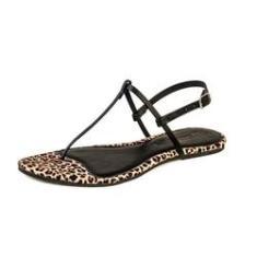 Imagem de Sandália Rasteira Flat Feminina Mercedita Shoes Onça Marrom