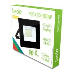 Imagem de Refletor Projetor Led 100W 6000K Ip65 Bivolt Ledo