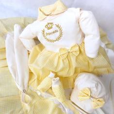 Imagem de Enxoval Bebê Reborn, Vestido Saída Maternidade Roupa