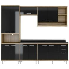 Imagem de Cozinha Completa 3 Gavetas 11 Portas para Cooktop Sicília 5809 Multimóveis