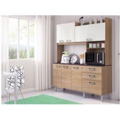 Imagem de Cozinha Compacta 2 Gavetas 7 Portas Açaí Itatiaia