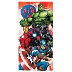 Imagem de Toalha De Banho Infantil Aveludada Avengers Transfer 70X140
