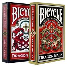 Baralho Bicycle Dragon Back  e  ( Kit com 2 Baralhos )