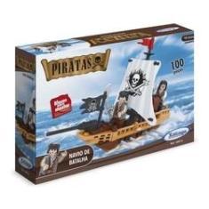 Imagem de Blocos De Montar - Piratas Navio De Batalha - Xalingo 05076