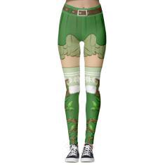 Imagem de Calças femininas com levantamento do quadril nas nádegas calças justas elásticas calça esportiva natalina
