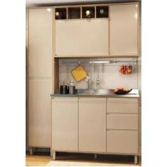 Imagem de Cozinha Compacta 3 Gavetas 6 Portas sem Tampo Yara Luciane Móveis
