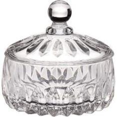 Imagem de Potiche Decorativo De Cristal Louise Transparente 14x14cm