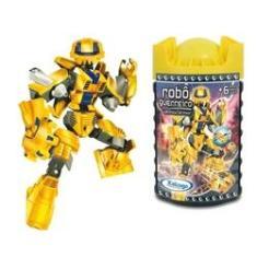 Imagem de Blocos de Montar Robô Guerreiro Yellow Armor 57 peças
