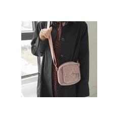Imagem de Bolsa de ombro feminino retrô de agachamento de veludo cotelê japonês para celular