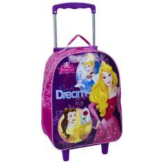 Mochila com Rodinhas Escolar Dermiwil G Disney Princesas