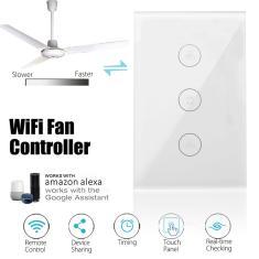 Imagem de Eua wifi Inteligente Ventilador de Teto Interruptor Toque Painel Tomada Trabalho com Alexa Google Home