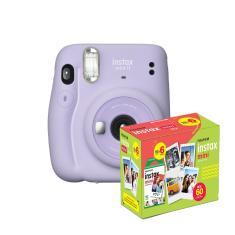 kit Câmera Instantânea Fujifilm Instax Mini 11 Lilás + Filme com 60 Fotos