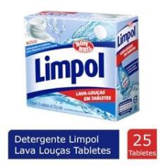 Sabao Maquina Lava Louças Limpol Tabletes