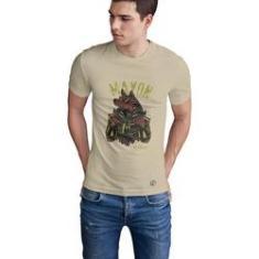 Imagem de Camiseta Mayon Algodão Egipcio Bege Anúbis
