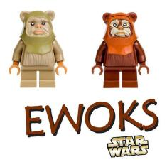 Imagem de Miniaturas Ewoks Star Wars Batalha Endor Bonecos Montar