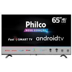 "Smart TV LED 65"" Philco 4K HDR PTV65Q20AGBLS 3 HDMI"