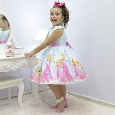 Imagem de Vestido infantil tema Princesa Aurora - Bela Adormecida