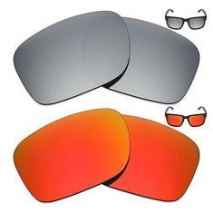 Imagem de 2 pares de lentes polarizadas de substituição da Mryok para óculos de sol Oakley Holbrook LX – Opções