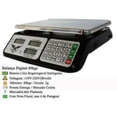 Imagem de Balança Eletrônica Digital 40kg Divisão 5g Alta Precisão Portátil Casa Comércio
