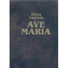 Bíblia Sagrada Ave Maria - Zíper - Edição de Bolso - Castro, Joao Jose Pedreira De - 9788527605793