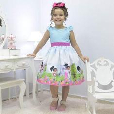 Imagem de Vestido infantil tema Nella, uma Princesa Corajosa