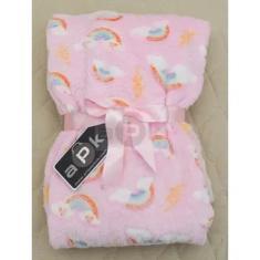 Imagem de Manta Cobertor Pé Quente Fleece Infantil -  Nuvem Tam 1-2 Anos