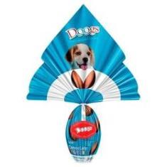 Imagem de Ovo de Páscoa de bifinho para cachorro com surpresinha Doogs Pet Sabor Carne e Leite Filhote 200g
