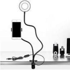 Imagem de Ring Light Mesa Iluminador Led Suporte Celular Selfie