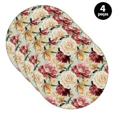 Imagem de Sousplat Mdecore Floral 35x35cm Verde 4pçs