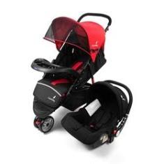 Imagem de Carrinho de Bebê com Bebê Conforto Safety Color Baby