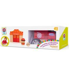 Imagem de Brinquedo Construindo Com Bloquinhos Bombeiros Da Estrela