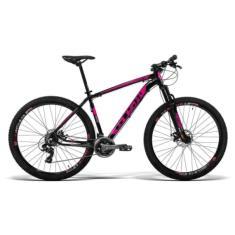 Bicicleta GTSM1 Lazer 24 Marchas Aro 29 Suspensão Dianteira Freio a Disco Mecânico Ride New