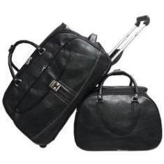 Imagem de Kit Mala de viagem de bordo com rodinhas e Bolsa mala de Mão , a Bordo Anac