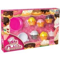 Imagem de Brincando De Casinha Kit Delicia Cupcake