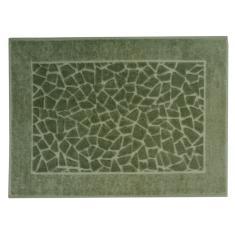 Imagem de Toalha Para Piso Felpudo Jacquard Confort Mosaico - Verde Militar 11436 - Döhler