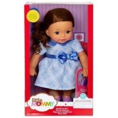 Imagem de Brinquedo Boneca Menina Little Mommy Com Cabelo Morena - Vestido  - Doce Bebê - Mattel