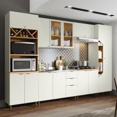 Imagem de Cozinha Completa 3 Gavetas 12 Portas Com vidro Essência Henn