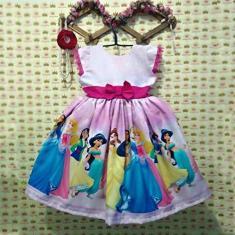 Imagem de Vestido infantil festa tema princesas da disney