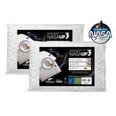 Imagem de Kit 2 Travesseiros Nasa Up3 Viscoelástico - Fibrasca