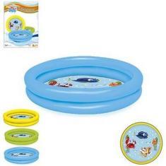 Imagem de Piscina Inflável Infantil 2 Anéis Peixinhos 61 Litros Verão