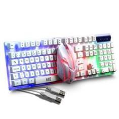 Imagem de Kit Para Jogo Teclado E Mouse Com Led Rgb Haiz Hz400 Abnt2 Ç