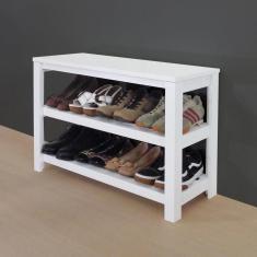 Imagem de Sapateira Banco De Piso Para Closets E Quartos 8 Pares Sapatos  Laca