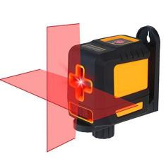 Imagem de Romacci Nível de laser Autonivelador de linha cruzada horizontal e vertical profissional Auto-nivelamento Nível de bolha de auto-nivelamento cruzado Linhas de laser Brilho ajustável Feixe  T03