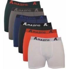 Imagem de Kit 10 Cuecas Algodão Masculina Cotton Box Boxer Adulto A